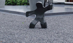 Waving Child sculpture 1