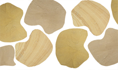 Flagstones Golden Leaf per stuk